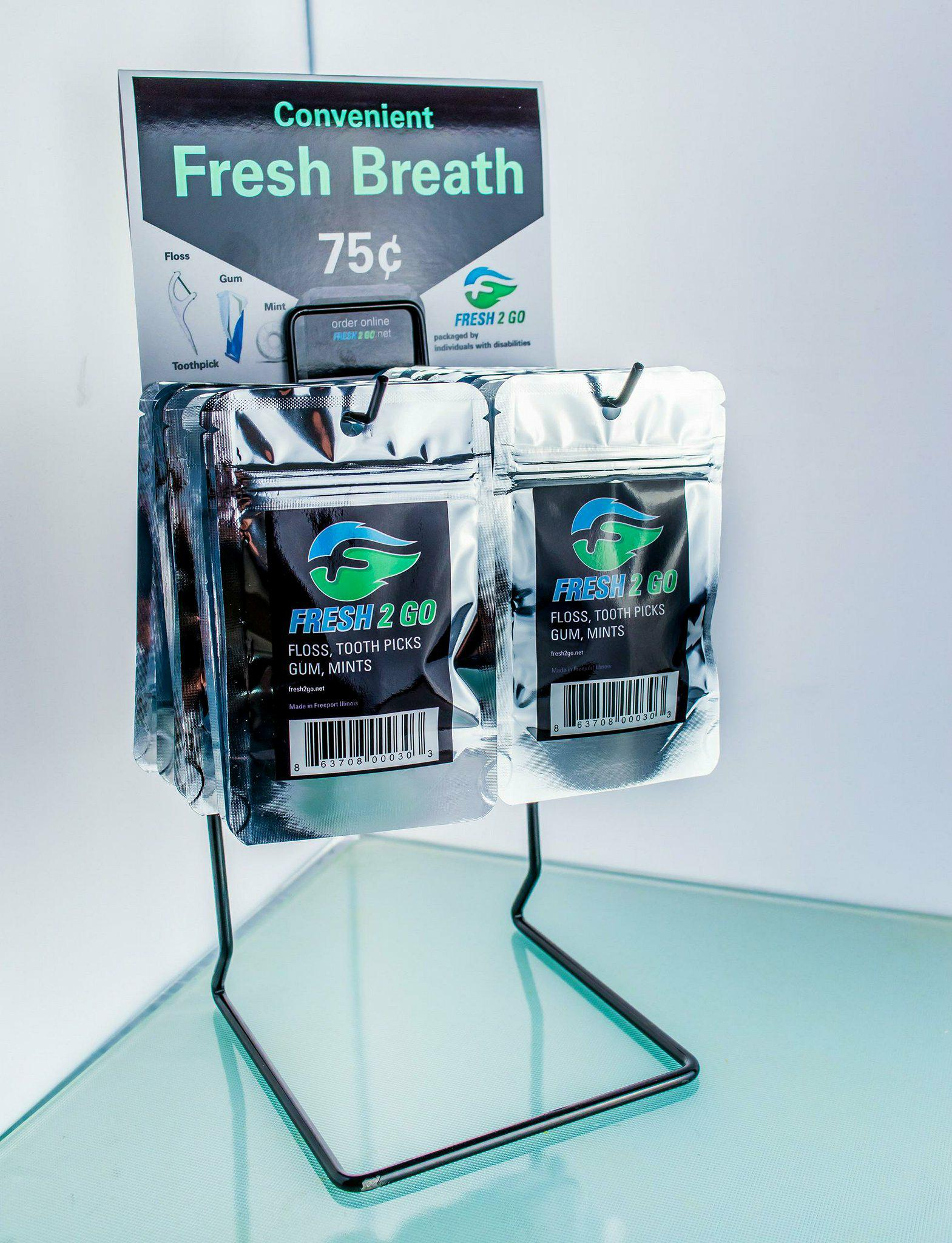 In point-of-sales displays, Fresh2Go's design allows you to display whatever you find most effective, whether it's our logo, your custom label...